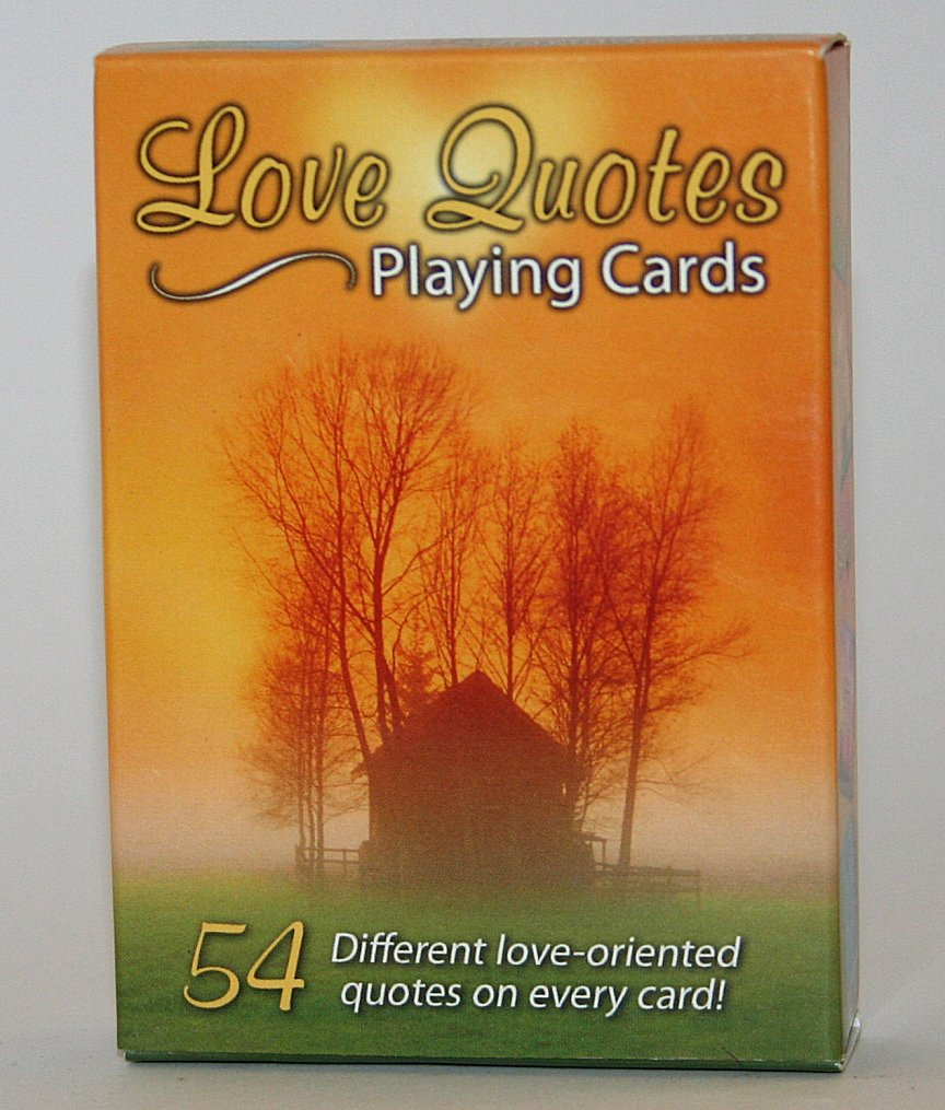love quotes sealed deck playing cards  warmbier farms